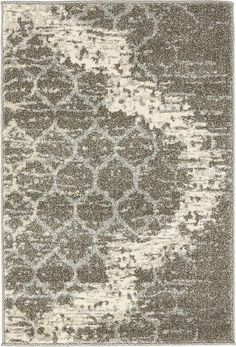 Light Gray Trellis Area Rug