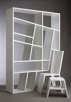 #bookcase + chair