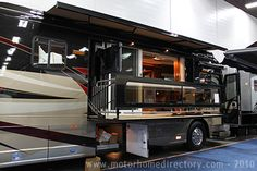 This is getting carried away.  Patio doors and a deck on an RV?  Really?