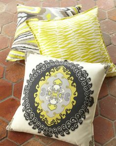 Outdoor Accent Pillows by Trina Turk at Horchow. Perfect pillows for sofa color switch up #HORCHOW