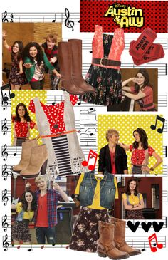 """austin and ally ( ally's look)"" by oliviaolivetree ❤ liked on Polyvore"