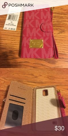 Micheal Kors Samsung note 4 cell phone wallet Micheal Kors Samsung note 4 cell phone wallet Michael Kors Accessories Phone Cases