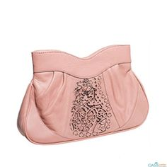 Pick top quality Powder Pink Clutch and Evening Bag With Self Pattern in  Textured Cuts on wholesale from the stunning collection at Oasis Leather 22b7cad0cfa83