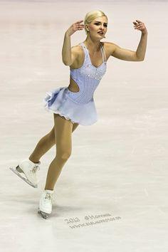 Viktoria Helgesson,-Blue Figure Skating / Ice Skating dress inspiration for Sk8 Gr8 Designs.