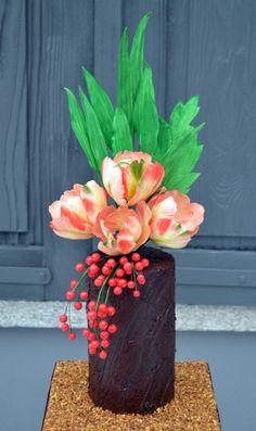 World Cancer Day Sugarflowers Collaboration - cake by Purple Platypus