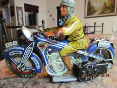 RARE ANTIQUE ARNOLD A643 TIN WIND UP TOY MOTORCYCLE MADE IN GERMANY U.S. ZONE  #ARNOLD