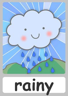 FREE weather Flashcards For Kindergarten! Teach weather easily with these cute…