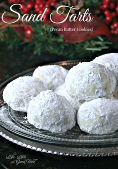 Sand Tarts, tasty little pecan butter cookies coated with powdered sugar. | Life, Love, and Good Food #cookies #recipe #cookieswap