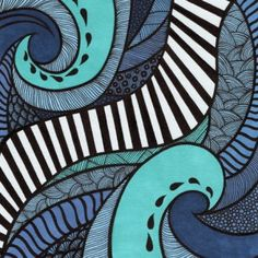Lorrie Whittington Medium: Ink and pigment markers on watercolour paper. Theme: Inspired by sea, tides, water and created originally to support the Earth Hour initiative Tangle Art, Surf Art, Arte Pop, Elements Of Art, Silk Painting, Gravure, Art Plastique, Teaching Art, Elementary Art