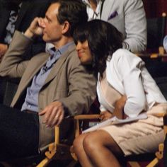 Kerry Washington & Tony Goldwyn; babes.