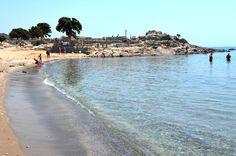 beach in Kamari Bay