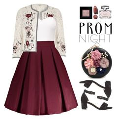 """""""The Perfect Prom Night"""" by beebeely-look ❤ liked on Polyvore featuring River Island, Bobbi Brown Cosmetics, Gucci, Prom, floral, formal, PROMNIGHT and sammydress"""