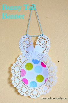 Bunny Tail Banner #easter #banner