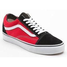 9267228385b7 Vans Old Skool Shoes Original WomensMens SuedeCanvas Sneakers Low BlackRed   vans4u4156  -  39.99