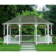 Build a gazebo in the backyard that you can use to decorate the yard. The gazebo is a perfect shelter next to it for those of you who want to do outdoor activities or relax with family or friends. Hot Tub Gazebo, Backyard Gazebo, Backyard Landscaping, Grill Gazebo, Landscaping Ideas, Outdoor Rooms, Outdoor Living, Garden Structures, Outdoor Structures