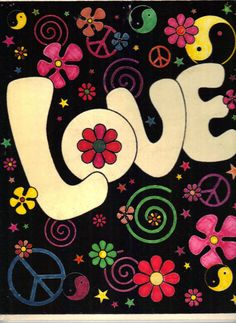 We used to write love and peace on our notebooks in this kind of lettering.