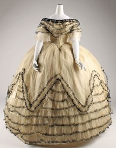 Ball gown, 1856-59 | In the Swan's Shadow