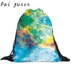 kai yunon 2016 Hot Sale Unisex Backpacks 3D Printing Bags Drawstring Backpack Sep 8