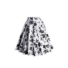 Vintage Flower Printed Skirt (425 CZK) ❤ liked on Polyvore featuring skirts, flower print skirt, floral vintage skirt, floral skirt, floral printed skirt and floral knee length skirt