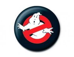 GHOSTBUSTERS logo BUTTON BADGE