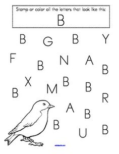 Find the Letters! - Alphabet Recognition Upper and Lower Case - stamp or color. 52 pages.