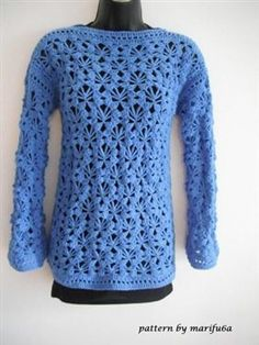 how to crochet pullover, sweater, free pattern tutorial for beginners - Media - Crochet Me