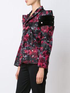 Comme Des Garçons floral print structured jacket