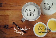 Vanilla sauce for dummies! [in Danish]