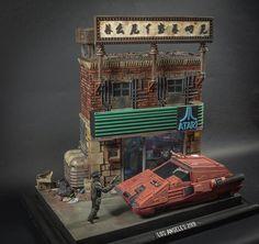 Blade Runner 1, Blade Runner Spinner, Nave Lego, Custom Funko Pop, Sci Fi Models, Arte Cyberpunk, Tecno, Fantasy Miniatures, Environmental Art