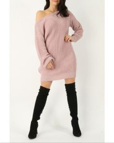 LONGLINE KNITTED JUMPER DRESS Product Code