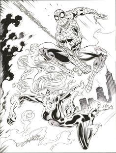 Castellini - Spider-man & Black cat (2011) Comic Art