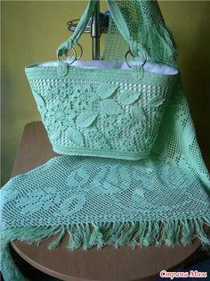 Красивые вязаные сумки идеи для воплощения - Страна Мам Crochet Handbags, Crochet Purses, Crochet Bags, Knitted Bags, Crochet Crafts, Crochet Clothes, Crochet Projects, Filet Crochet, Irish Crochet