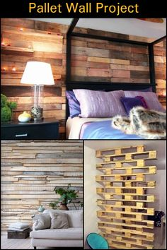 Turn a Boring Spot in Your Home into an Accent Wall Using Recycled Pallets