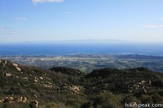 Hikes in Santa Barbara County listed by name, distance, and location with links to a full description of each trail.