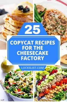 25 Copycat Recipes For The Cheesecake Factory – Lucks List - nimivo sites Louisiana Chicken Pasta, The Cheesecake Factory, Copykat Recipes, Soup Recipes, Cooking Recipes, Fondue Recipes, Drink Recipes, Chicken Recipes, Cookie Dough Cheesecake