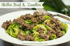 Skillet Beef and Zoodles (Zucchini Noodles) at Gluten-Free Homemaker