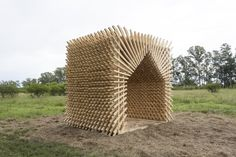 Students Construct Timber Structures in the Argentinian Countryside with Hello Wood Argentina, Sombra Pampa / Marantz Arquitectura. Image © Fernando Schapochnik