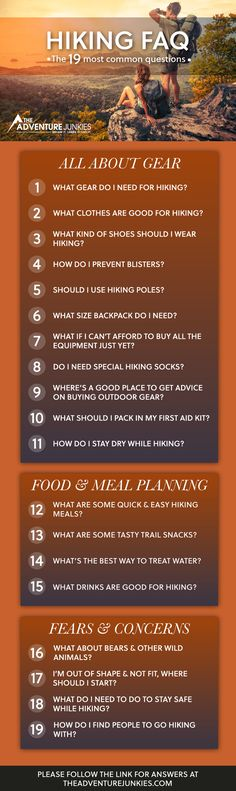 How to Get Into Hiking - The 19 Most Common Questions – Hiking Tips For Beginners – Backpacking Tips and Tricks for Women and Men via @theadventurejunkies