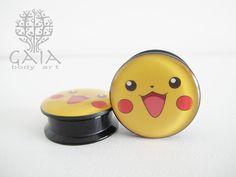 Alargador Pikachu  16mm - 20mm - 22mm - 25mm PROMOÇÃO: R$9,90 a unidade, qualquer tamanho :) http://www.gaiabodyart.com.br/Alargador-pikachu