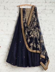 Classic Partywear Black And Gold Colour Designer lehenga Choli Blue Lehenga, Indian Lehenga, Lehenga Choli, Black And Gold Lehenga, Choli Dress, Pakistani Dresses, Indian Dresses, Indian Outfits, Indian Attire