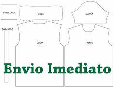f30b7a724c Molde Camisa Polo Masculina Feminina - Costura E Sublimação - R  29