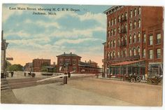 Hey, I found this really awesome Etsy listing at https://www.etsy.com/listing/235796754/vintage-postcard-jackson-michigan-east