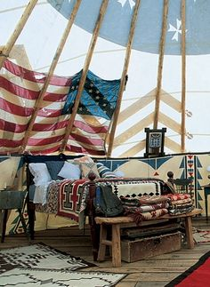 Cabin Porn™ – The guest teepees at Ralph Lauren's Double RL...