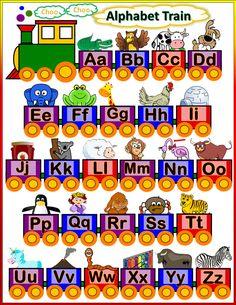 Trains Preschool, Preschool Charts, Educational Toys For Preschoolers, Kids Learning Activities, School Tool, School Plan, Train Crafts, Train Posters, School Cartoon