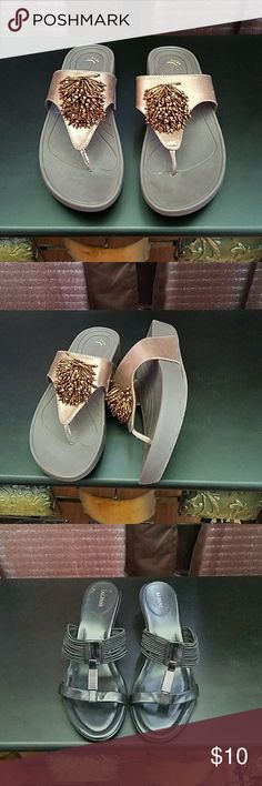 Sandles Nice sandles still in very good condition  one pair is guess. Rialto,bare traps. Asking price 10.00 ea Alfani Shoes Sandals