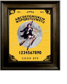 Witch Ouija Print 8 x 10  Pin Up Art  Altered Art  by fringepop