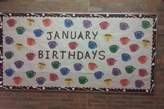 January Birthday Bulletin Board Cups of Hot Chocolate