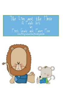 """Unit for the fable, """"The Lion and the Mouse."""" Matches 1st grade common core."""