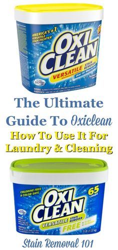 Here is the ultimate guide to Oxiclean, the product used to fight stains and clean all types of items. In this article I've provided lots of uses for this product, for both laundry and cleaning, as well as reviews of lots of products {on Stain Removal 101} Deep Cleaning Tips, House Cleaning Tips, Cleaning Solutions, Spring Cleaning, Cleaning Hacks, Cleaning Products, Cleaning Recipes, Tablet Recipe, Homemade Toilet Cleaner