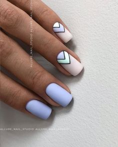 Lovely Early Spring Short Nails Art Design And Colors Ideas - Page 109 of 109 - Nageldesing - Nageldesign Cute Summer Nails, Spring Nails, Nails Summer Colors, Summer Nail Art, Summer Holiday Nails, Holiday Nail Art, Nails Yellow, Periwinkle Nails, Blue Matte Nails